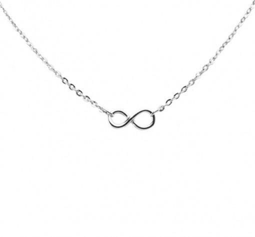 Rhodium Infinity Necklace