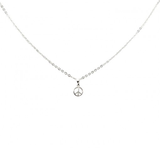 Silver Peace Necklace, Made in USA