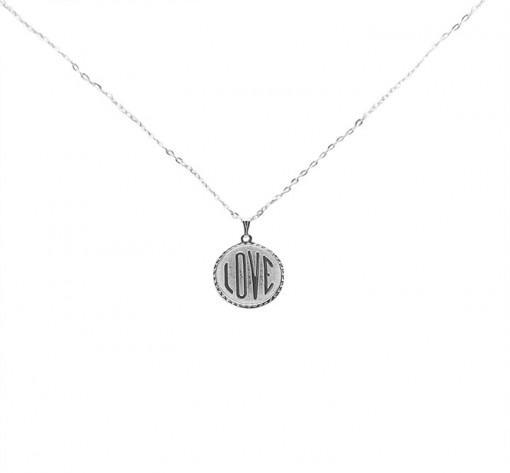 Silver Love Necklace, Made in USA
