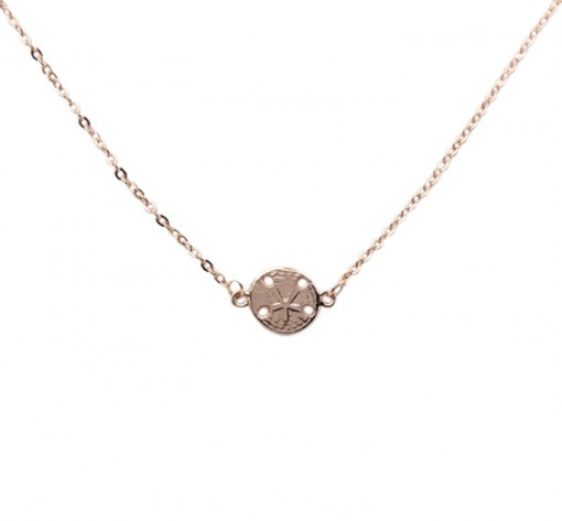 Rose Gold Sand Dollar Necklace, made in USA