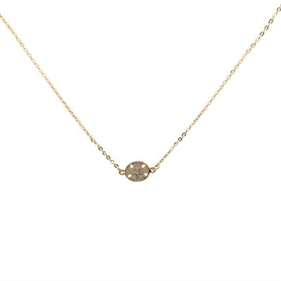 made in USA sand dollar necklace gold