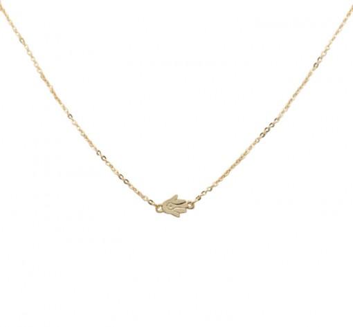 hamsa, necklace, gold, golden
