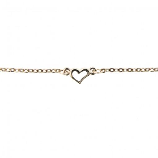 rose gold heart anklet