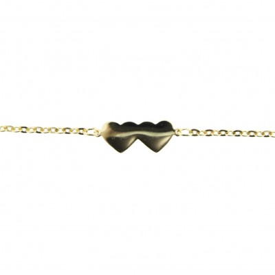 made in USA gold heart anklet