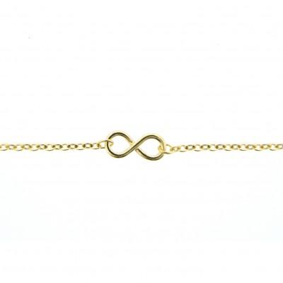 gold infinity ankle bracelet