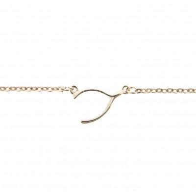 rose gold wishbone anklet