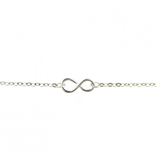 silver infinity ankle bracelet