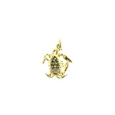 gold crab charm bracelet