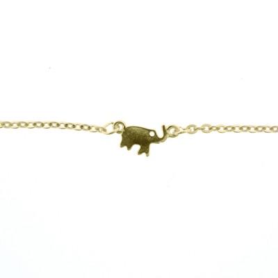 golden elephant anklet