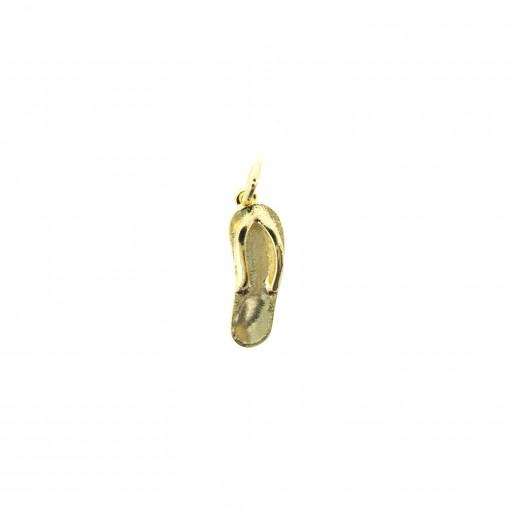 gold flip flop charm bracelet