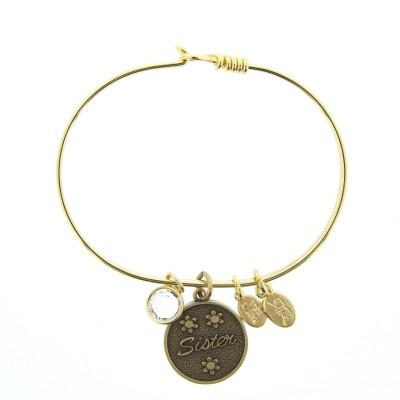 golden sister charm bracelet