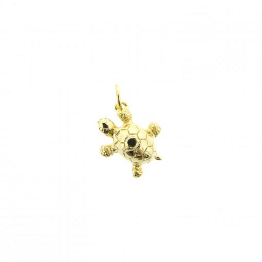 gold turtle charm bracelet