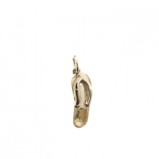 rose gold flip flop charm bracelet