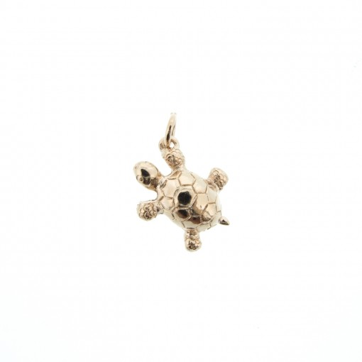 rose gold turtle charm made in USA