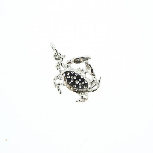 silver crab charm bracelet