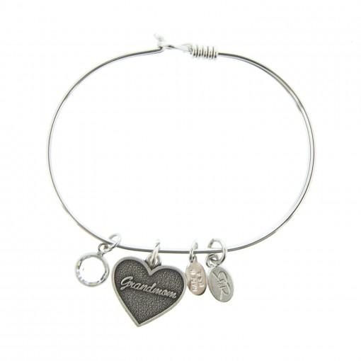 silver grandmom charm bracelet