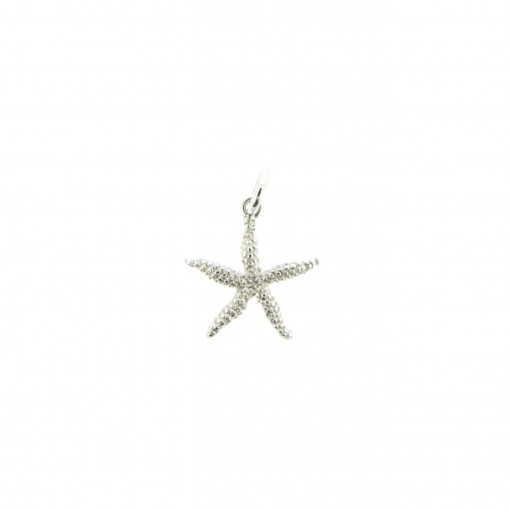 silver sealife starfish charm