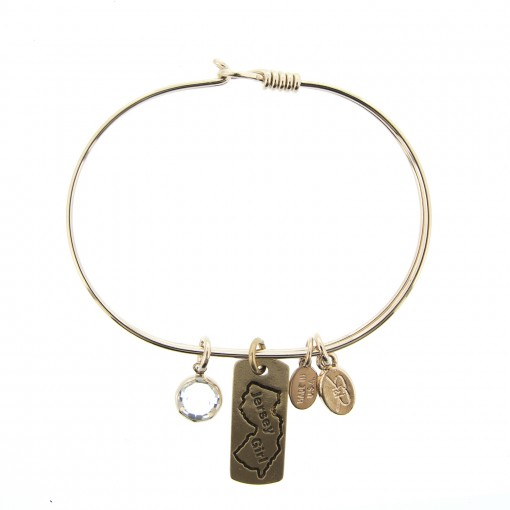 gold jersey girl charm bracelet