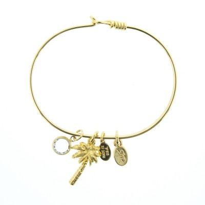 gold palm tree charm bracelet