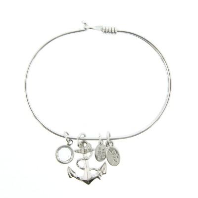 silver anchor charm bracelet