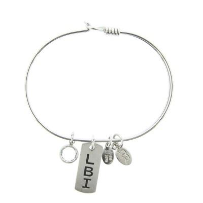 silver LBI New Jersey bracelet