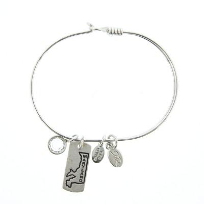 silver maryland charm bracelet state jewelry