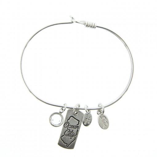 silver ocean city charm bracelet