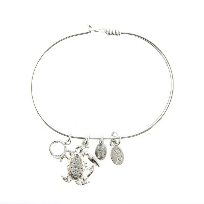 silver crab beach bracelet