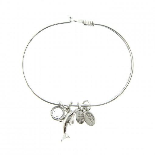 silver dolphin beach bracelet