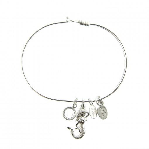 silver mermaid charm bracelet