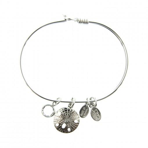 silver sand dollar sealife bracelet